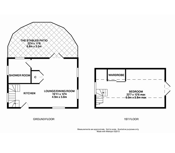 The Stable Holiday Cottage Floor Plan